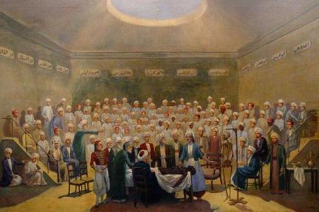 Figura 2. Primera lección de anatomía, Egipto. 1829. Museo de Kasr Al-Aini, El Cairo.